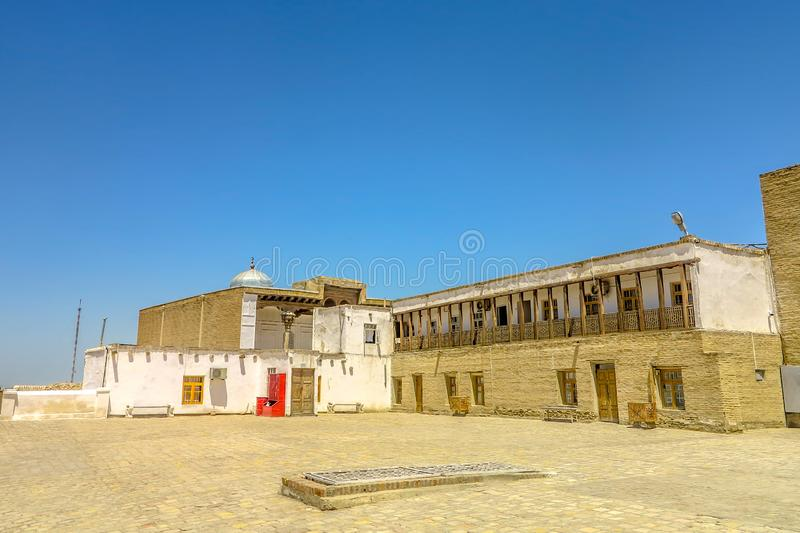 Bukhara Old City 25. Bukhara Old City Picturesque Breathtaking Ark Citadel Courtyard Square Viewpoint royalty free stock photography