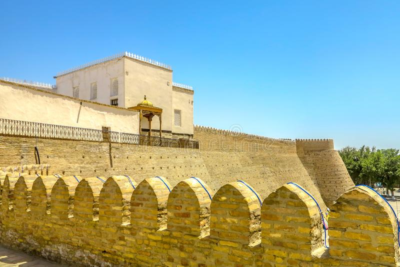 Bukhara Old City 24. Bukhara Old City Picturesque Breathtaking Ark Citadel Fortified External Walls Viewpoint stock images