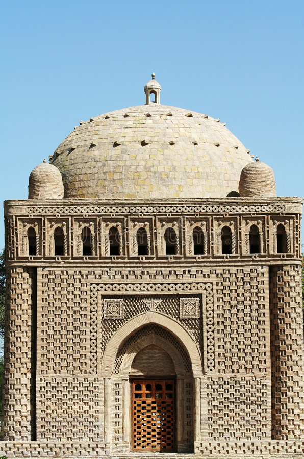 bukhara slott arkivbild