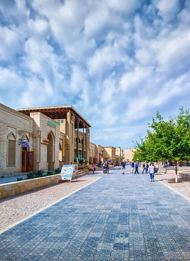 Bukhara stary grodzki uliczny widok obraz royalty free