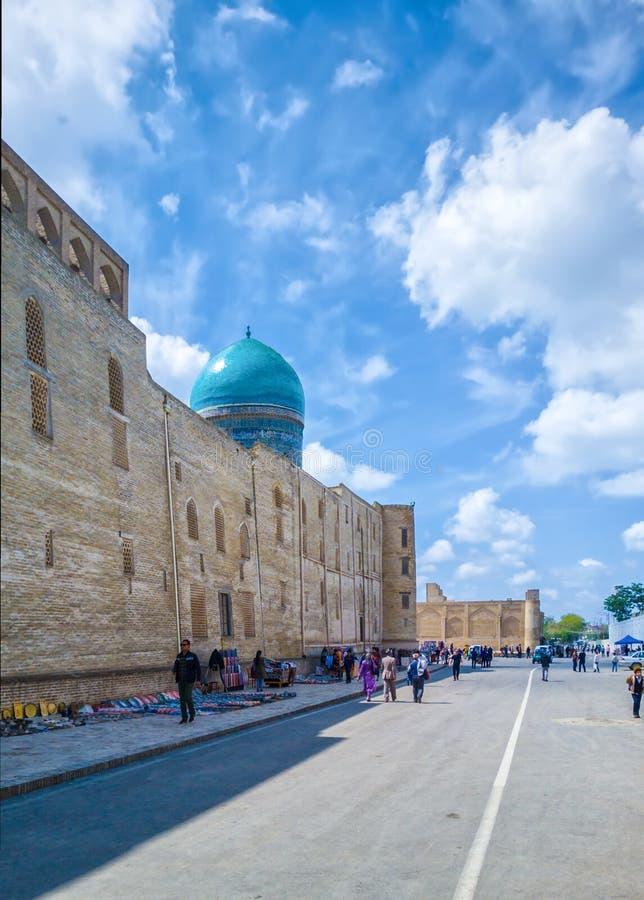Bukhara stary grodzki uliczny widok zdjęcie stock