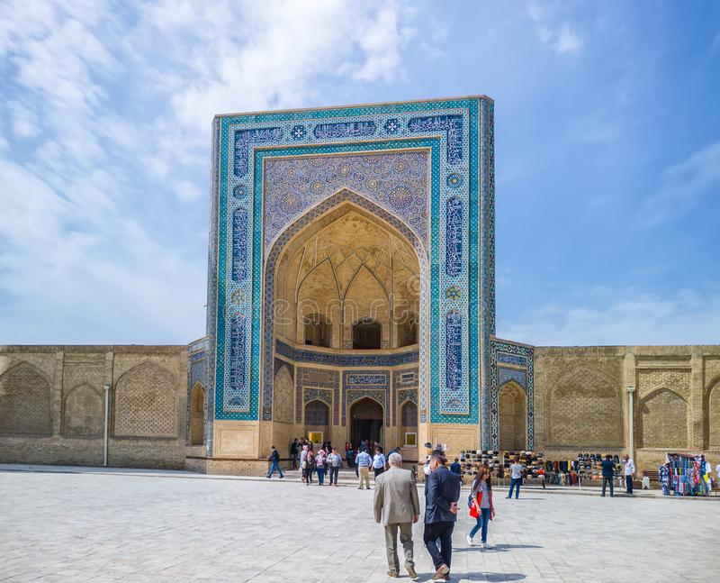 Po-i-Kalyan Mosque Kalon Mosque, Bukhara, Uzbekistan, Central Asia royalty free stock photography