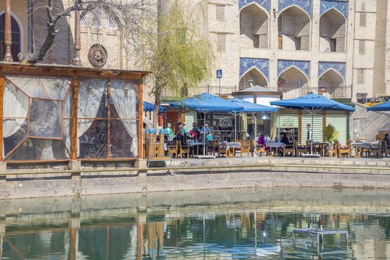 Bukhara Uzbekistan, Marzec, - 13, 2019: dom restauracja, lokalizować w historycznym centrum Antyczny Bukhara, Uzbekistan zdjęcia royalty free