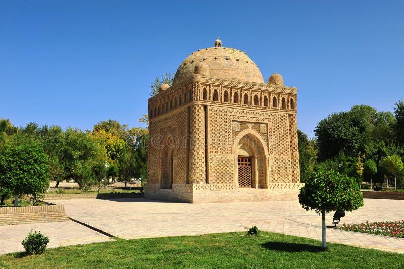 Bukhara, Uzbekistan: Samani Ismail mauzoleum zdjęcie stock