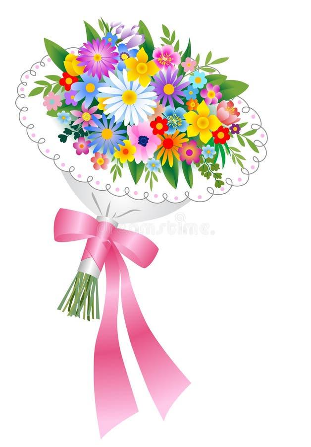 bukietów kwiaty royalty ilustracja
