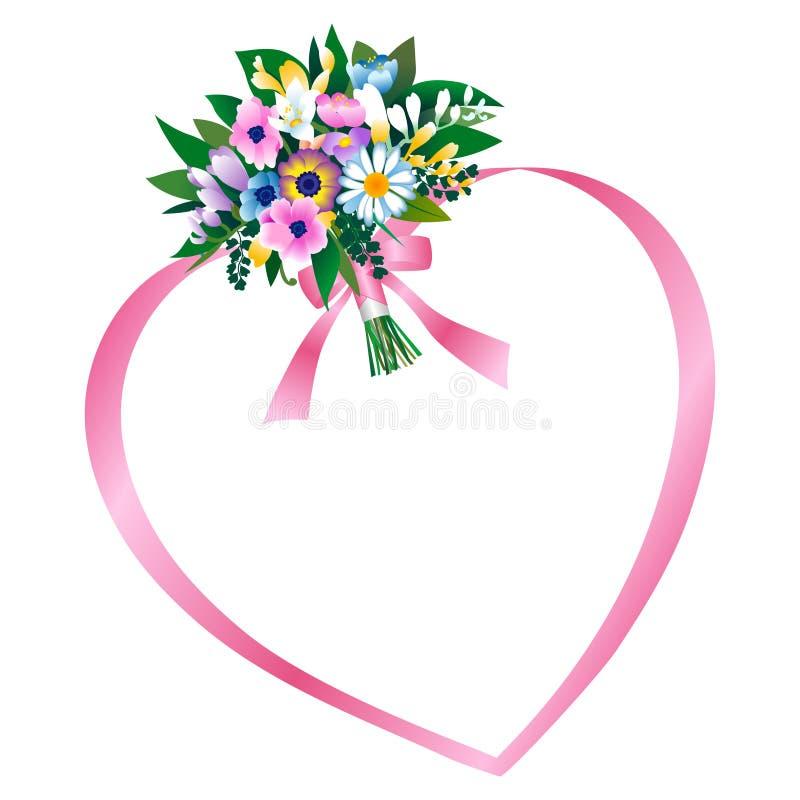 bukietów kwiaty ilustracja wektor