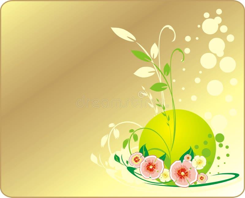 bukietów kwiaty karciani dekoracyjni royalty ilustracja