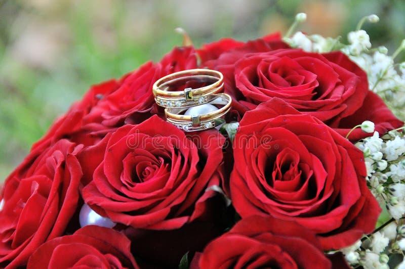 3 bukietów ostrości przedpola ślub kilka dni ubranie szczęśliwy roczna ślub obrazy royalty free