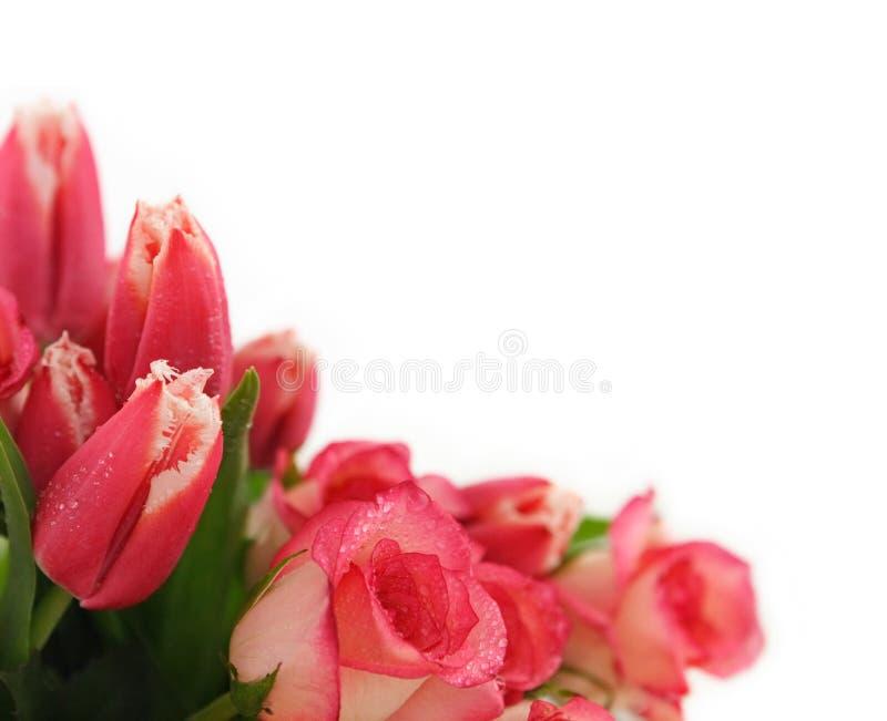 bukietów różowe kwiaty, obraz stock