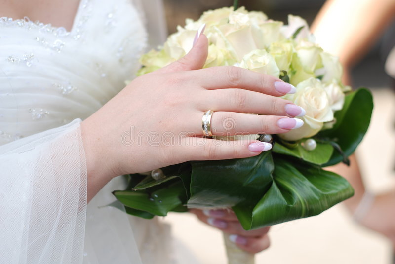 bukiet ślub panny młodej zdjęcia royalty free