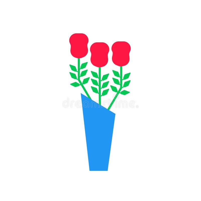 Bukiet ikony wektoru znak i symbol odizolowywający na białym tle, bukieta logo pojęcie royalty ilustracja