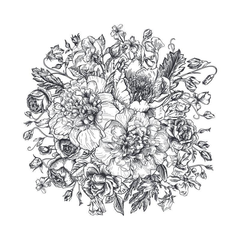 bukiet kwiatów lato ilustracja wektor