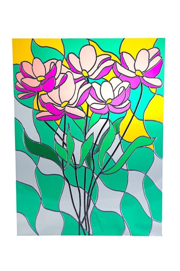 Bukiet kwiaty - witraż fotografia royalty free