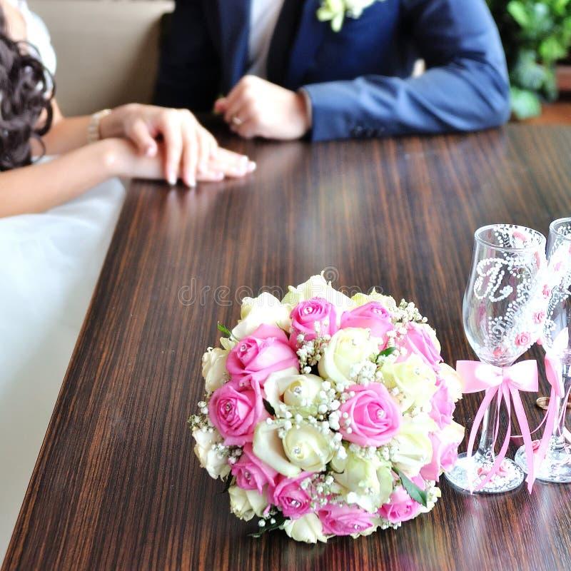 bukiet kwitnie ślub zdjęcie stock