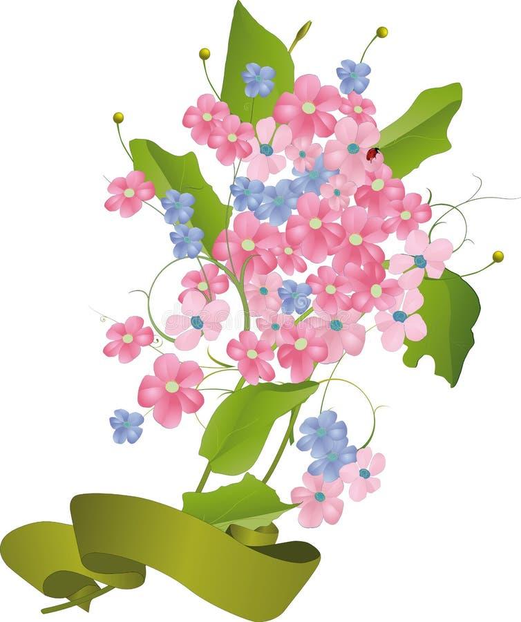 bukiet kwitnie dzikiego ilustracji