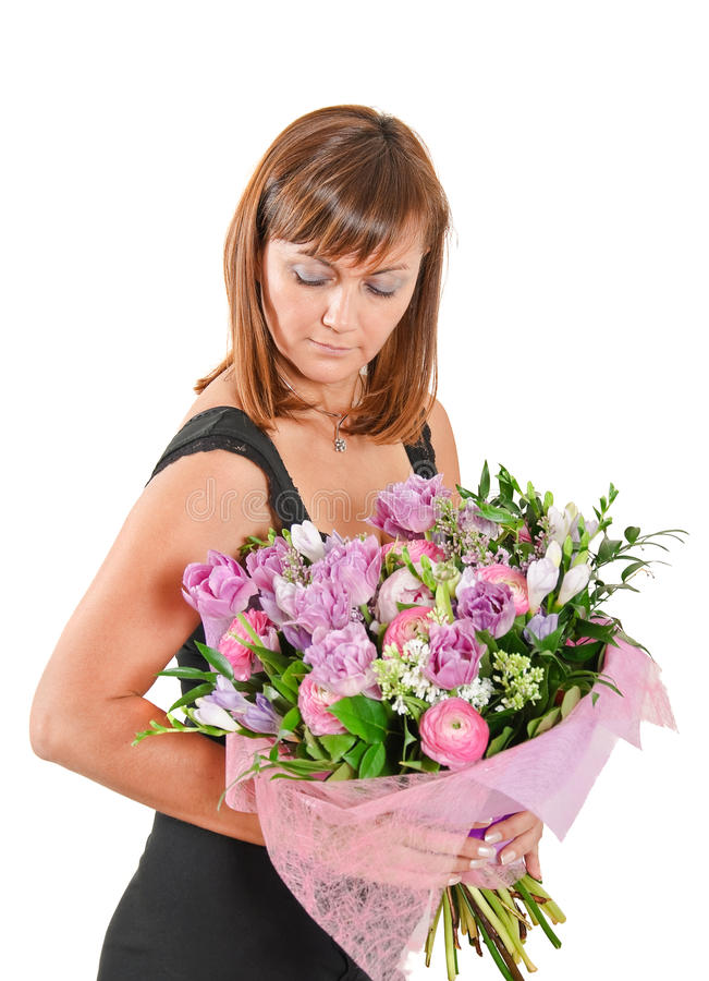 bukiet kwitnie kobiety zdjęcie stock