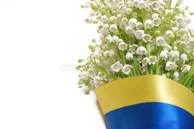 Download Bukiet Leluja Dolina Zakrywająca Ukraińską Flaga Obraz Stock - Obraz złożonej z piękny, greenbacks: 53788279