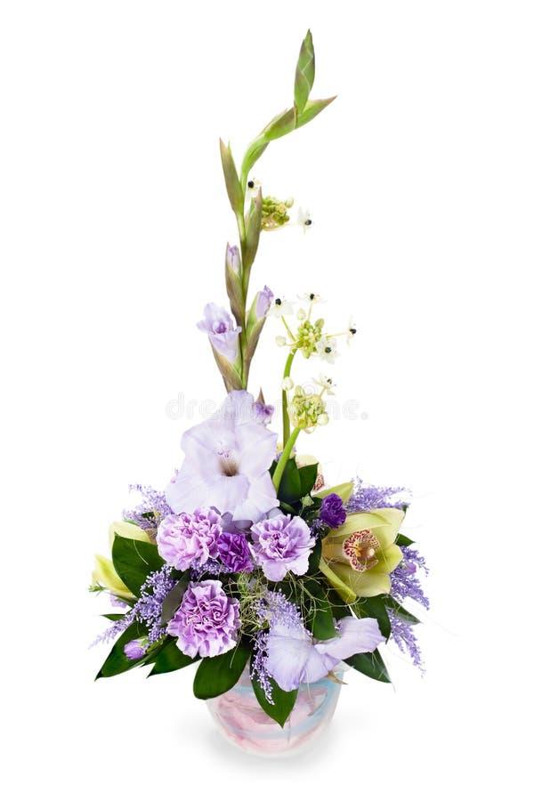 Bukiet od gladioluses obrazy stock