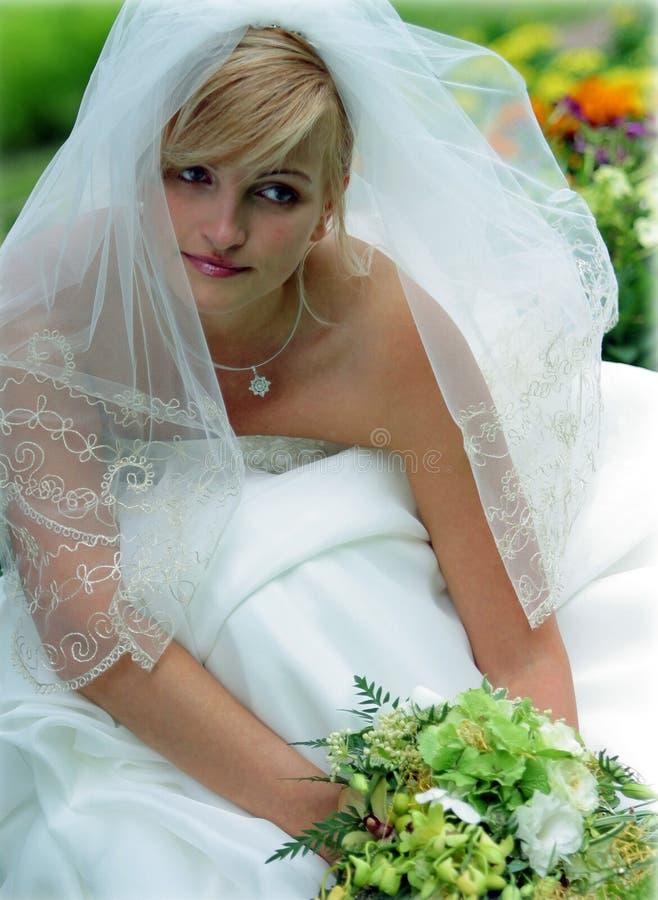 bukiet pannę młodą uśmiecha się zdjęcia royalty free
