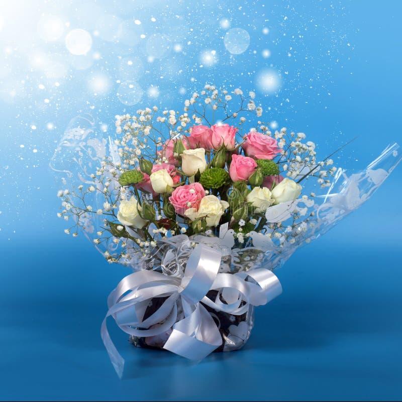 Bukiet piękne kwiat róże obrazy stock