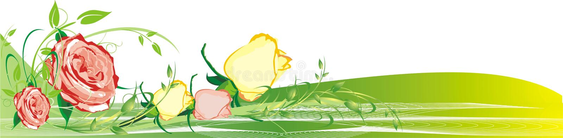 bukiet róż kwieciste dekoracji royalty ilustracja