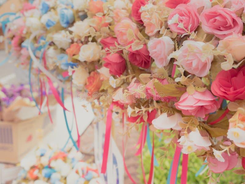 Bukiet róża kwiat, różowa czerwień i bielu colour od kwiatu s, obrazy stock