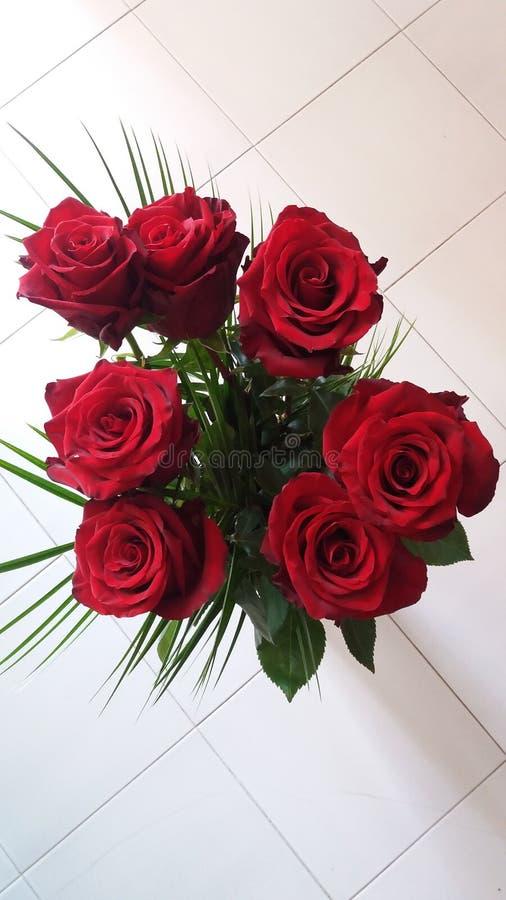bukiet ?wi?towania dnia kwiaty troch? czerwone r??e zdjęcia stock