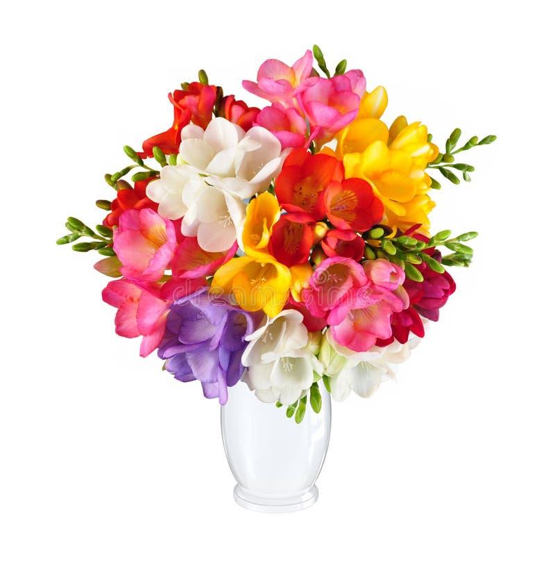 Bukiet wiosna kwitnie w białej wazie zdjęcia royalty free