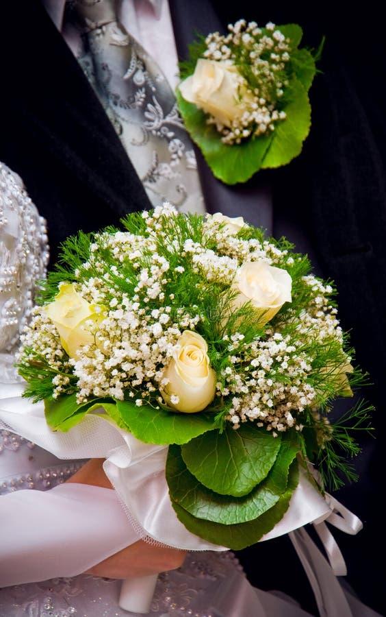 bukieta buttonhole ślub fotografia royalty free