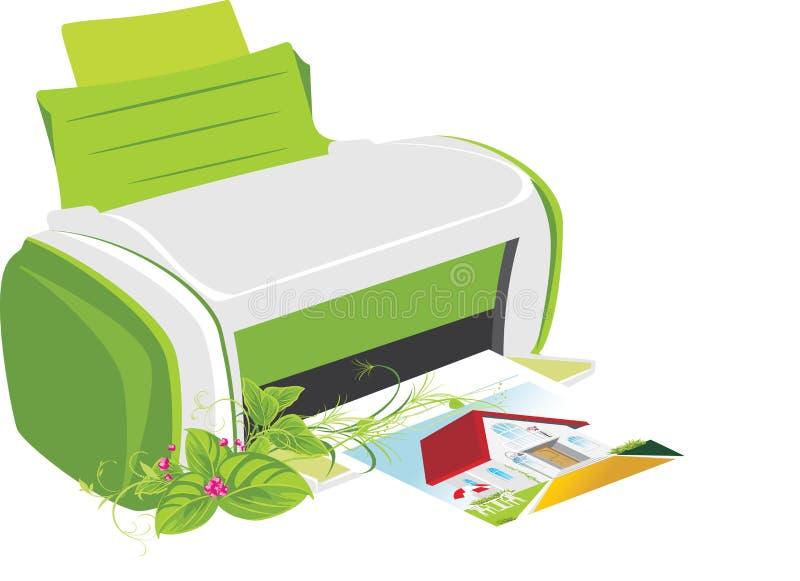 bukieta drukarki nakładowa wiosna ilustracji