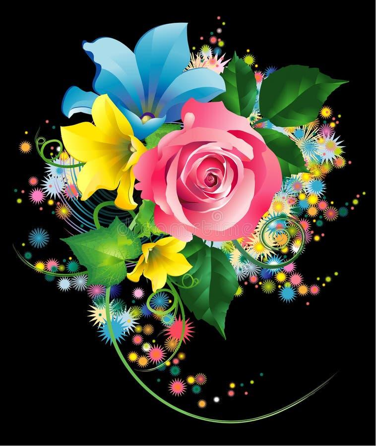 bukieta kwiatów ogród ilustracji