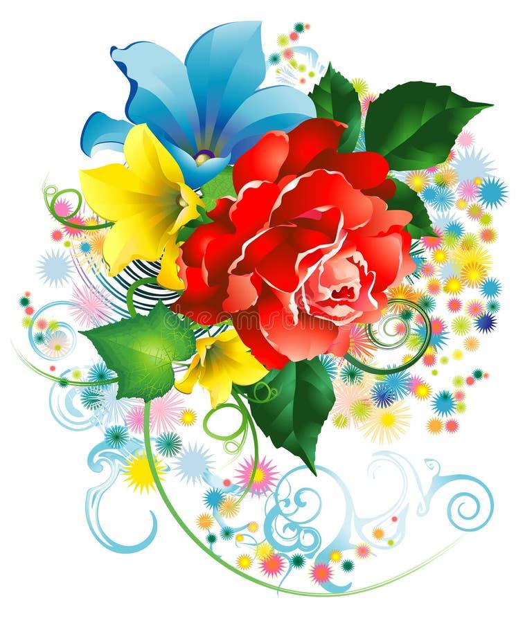 bukieta kwiatów ogród royalty ilustracja