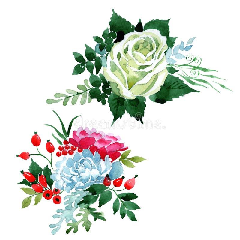 Download Bukieta Kwiat W Akwarela Stylu Odizolowywającym Ilustracji - Ilustracja złożonej z rosa, kolekcja: 106918910