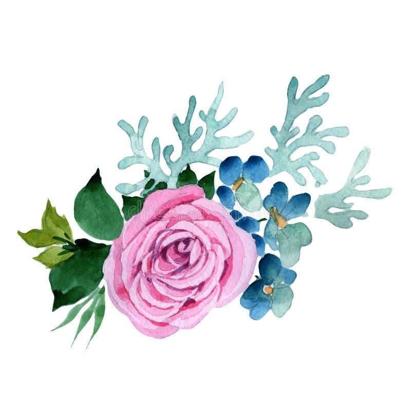 Download Bukieta Kwiat W Akwarela Stylu Odizolowywającym Ilustracji - Ilustracja złożonej z zbliżenie, ilustracje: 106919025