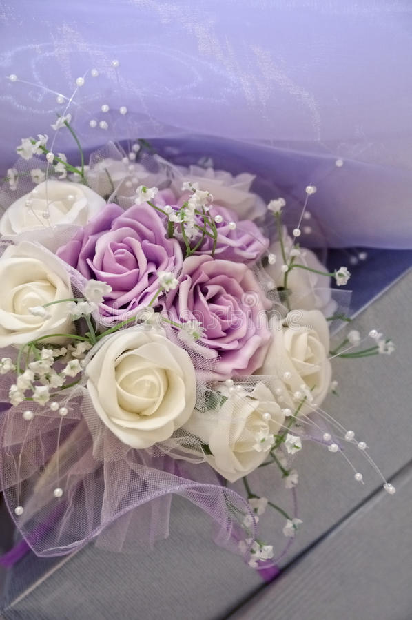 bukieta purpur ślub obrazy royalty free
