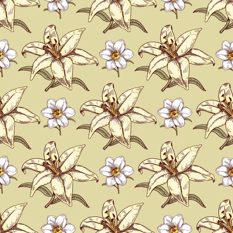 Bukieta rocznika kwiat?w p?czka ?lubu kwiatu natury stylowego eleganckiego urodzinowego projekta r?ki rysowa? romantyczne flory k royalty ilustracja