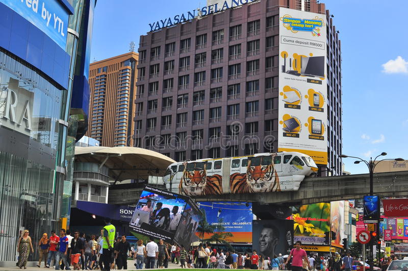 Bukit Bintang, Kuala Lumpur, Malesia fotografia stock