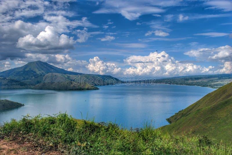 Bukit Holbung - Samosir-Insel stockbild