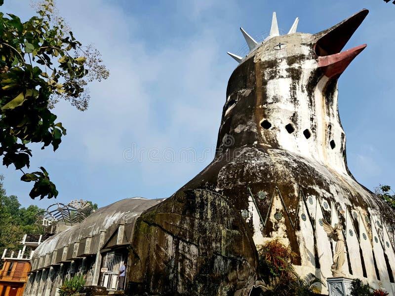 Bukit Rhema o conosciuto come la chiesa del pollo fotografia stock libera da diritti