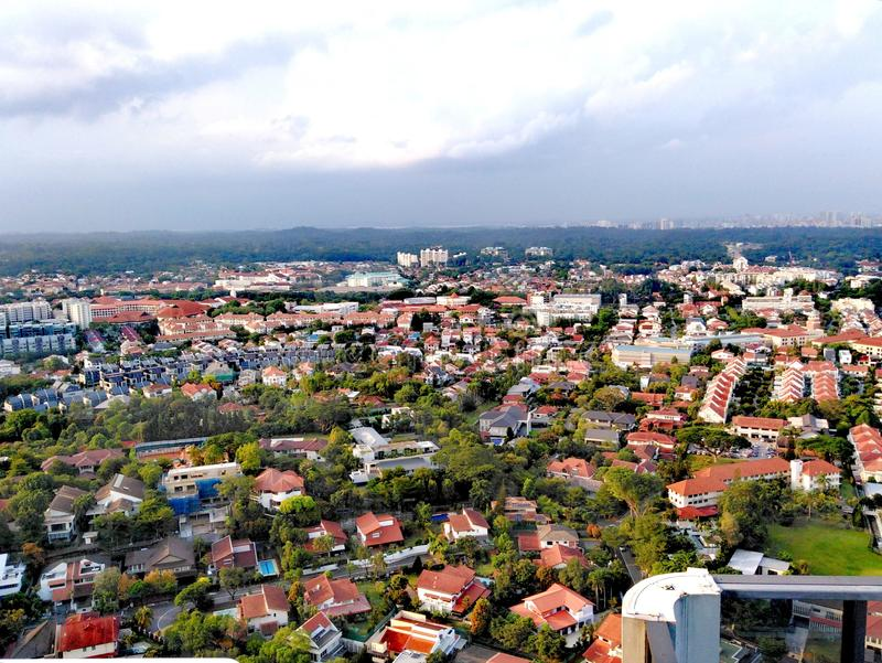 Bukit Timah område i Singapore royaltyfri bild