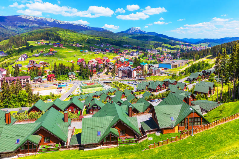 Bukovel, Carpathian Mountains, Ukraine stock photo