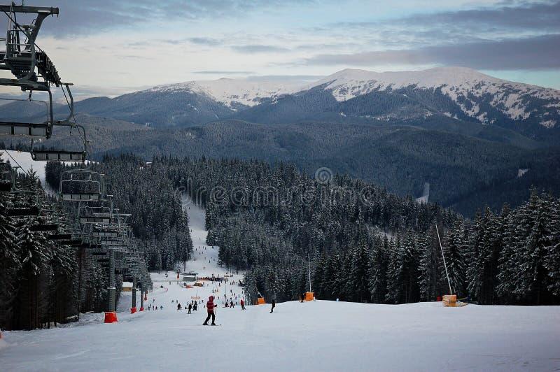 Bukovel ski resort royalty free stock images