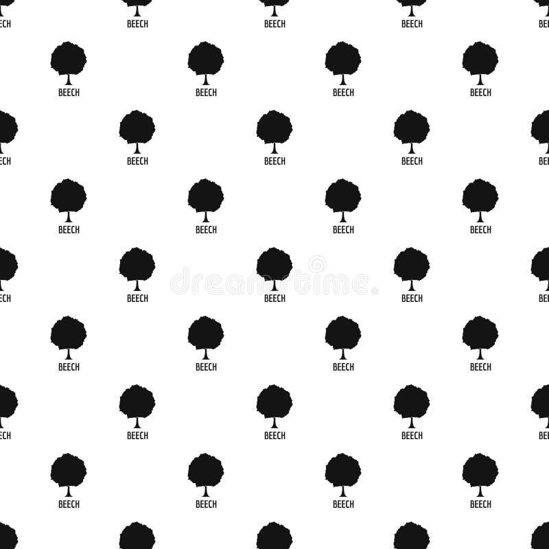 Bukowego drzewa wzoru bezszwowy wektor ilustracja wektor