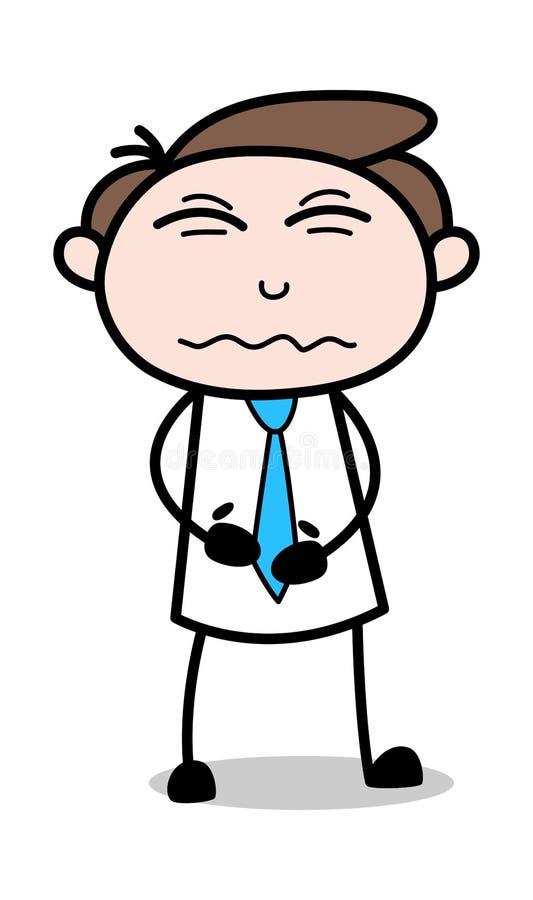 Bukproblem - kontorsaffärsmanEmployee Cartoon Vector illustration stock illustrationer