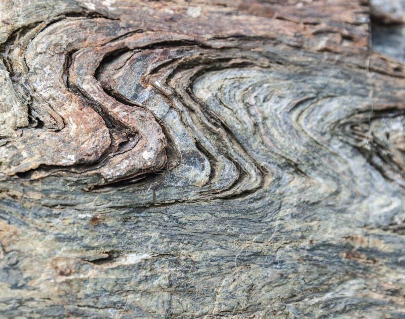 Bukta spår i fieldstone arkivbild