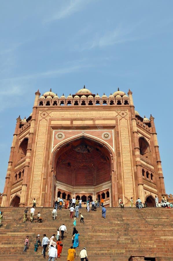Buland Darwaza em Fatehpur Sikri, India imagens de stock