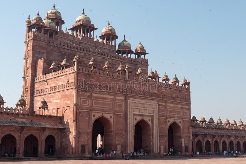 Buland Darwaza (porta do magnificência), Fatehpur Sikri imagem de stock royalty free