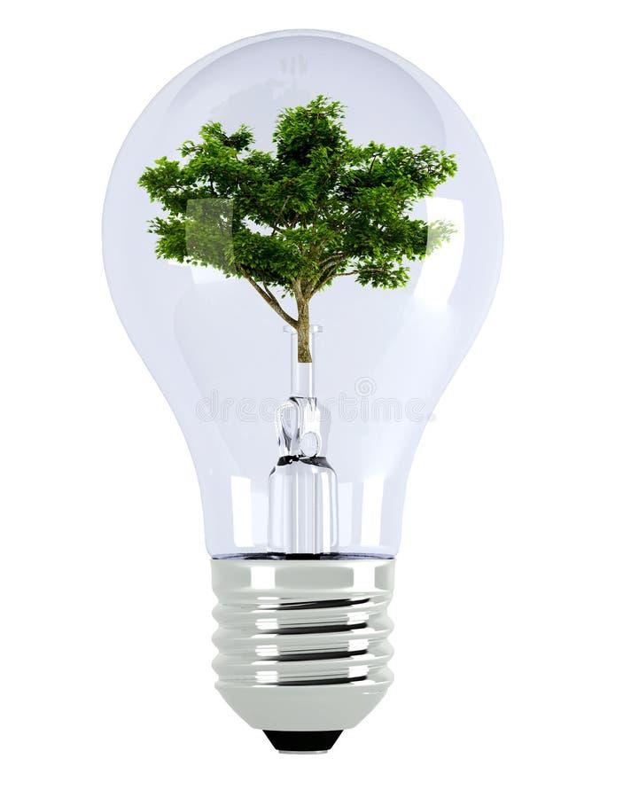 Bulb. Light bulb. 3d illustration over white backgrounds royalty free illustration