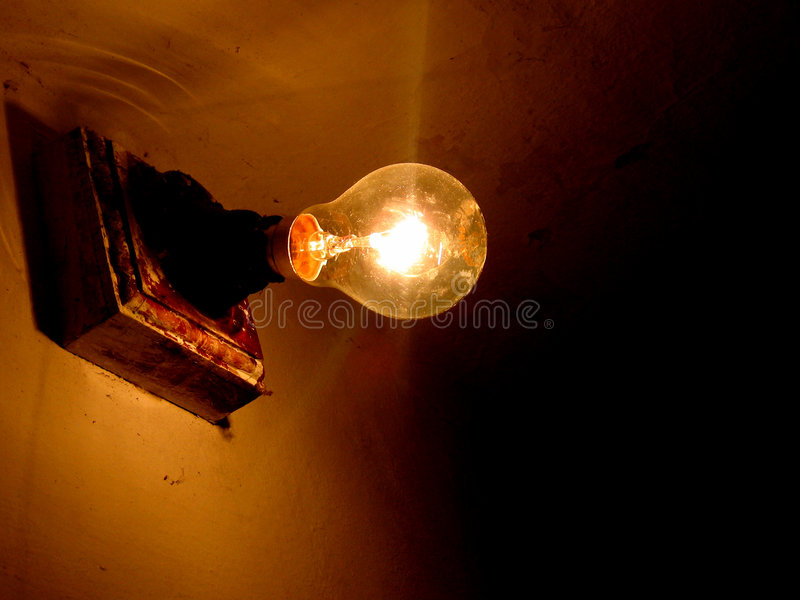 The Bulb. A beautiful bulb picture from an old house stock image
