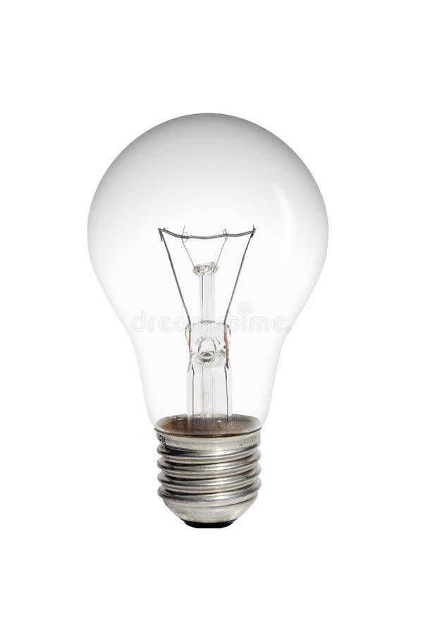 Bulb. On white background (illuminate on head stock photo
